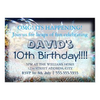 Convites do aniversário do Lionfish