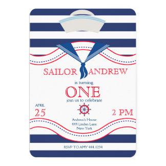 Convites do aniversário do marinheiro pequeno