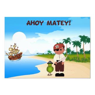 Convites do aniversário do menino do pirata