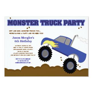 Convites do aniversário do MONSTER TRUCK 5x7