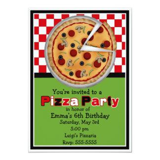 Convites do aniversário do partido da pizza