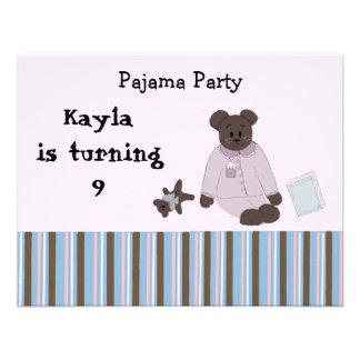 Convites do aniversário do partido de pijama