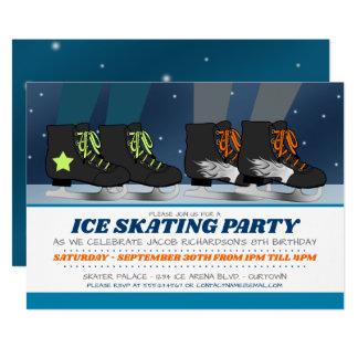 Convites do aniversário do partido do patinagem no