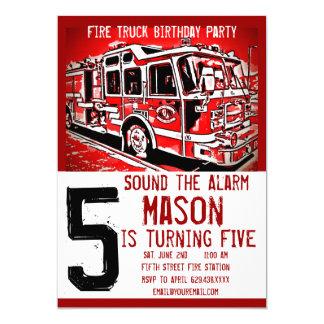 Convites do aniversário do sapador-bombeiro do