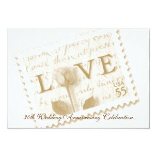 Convites do aniversário do selo de carta de amor