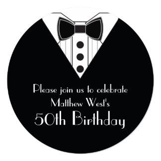 Convites do aniversário do smoking do traje de
