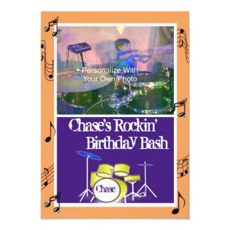 Convites do aniversário do tema da música de