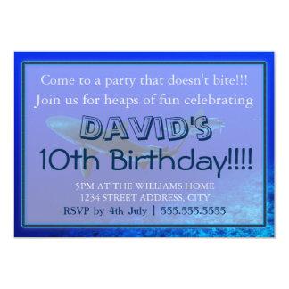 Convites do aniversário do tubarão do recife
