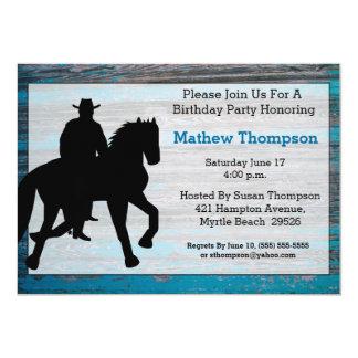 Convites do aniversário do vaqueiro convite 12.7 x 17.78cm