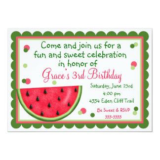 Convites do aniversário do verão da melancia