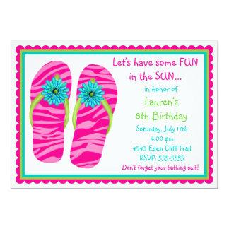 Convites do aniversário dos chinelos
