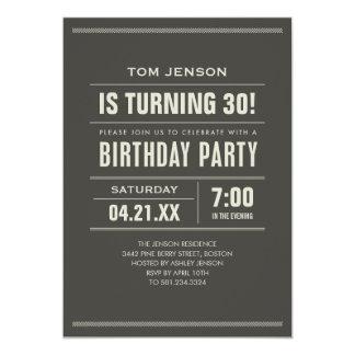 Convites do aniversário para adultos