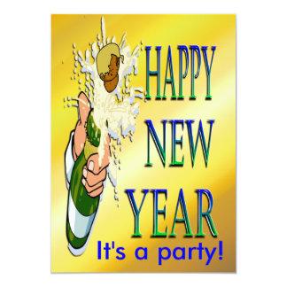 Convites do ano novo de Champagne