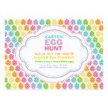 Convites do arco-íris da caça do ovo da páscoa