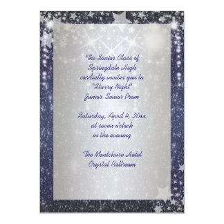 Convites do baile de formatura da noite estrelado
