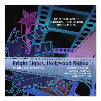 Convites do baile de formatura de Hollywood