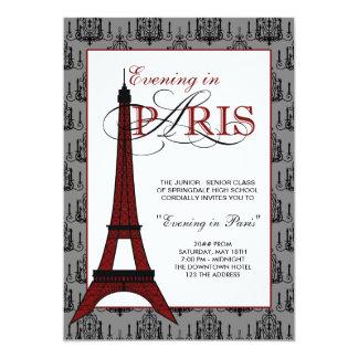 Convites do baile de formatura de Paris