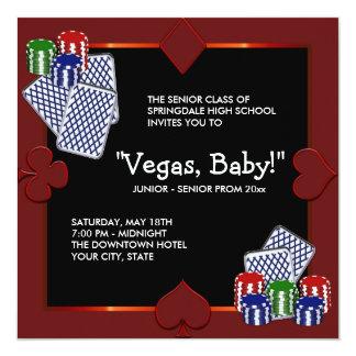 Convites do baile de formatura do casino de Las