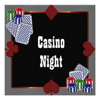 Convites do baile de formatura do casino de Las Ve