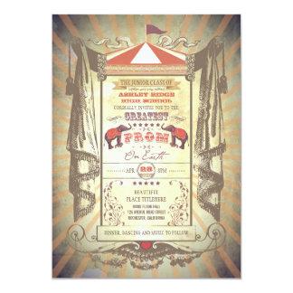 Convites do baile de formatura do circo do