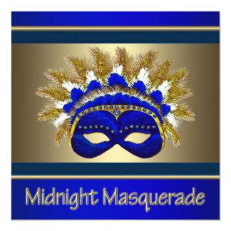 Convites do baile de formatura do mascarada
