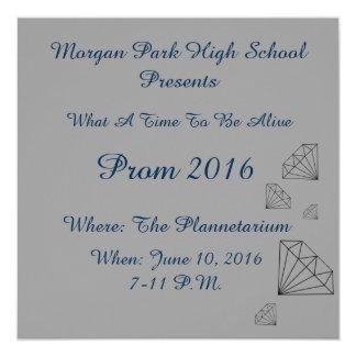 Convites do baile de formatura do parque de Morgan