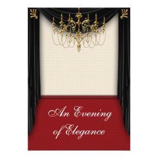 Convites do baile de formatura do traje de cerimón