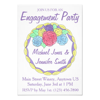 Convites do bolo do chá da festa de noivado do
