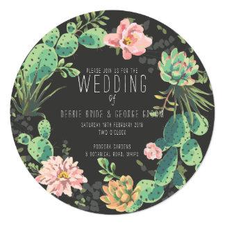 Convites do cacto e do Succulent, casamento da