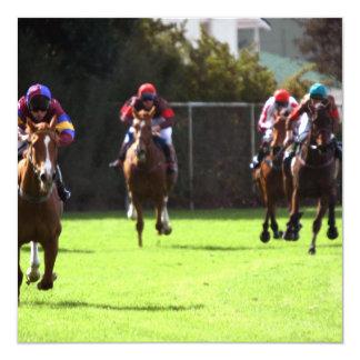 Convites do campo da corrida de cavalos convite quadrado 13.35 x 13.35cm