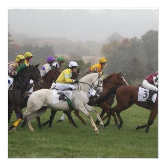Convites do campo do cavalo de raça