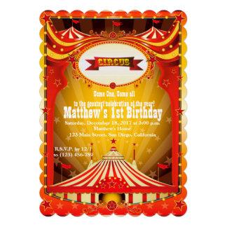 Convites do carnaval do circo do partido | de