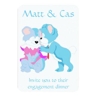 Convites do casal do urso de ursinho