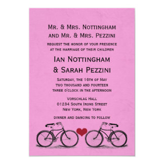 Convites do casamento da bicicleta do vintage