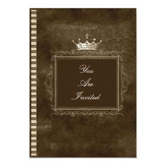 Convites do casamento da coroa de Brown
