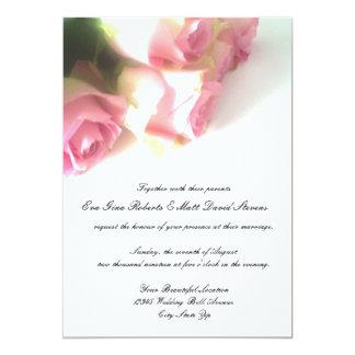 Convites do casamento da flor do rosa do rosa