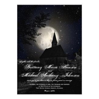 Convites do casamento da Lua cheia da igreja do