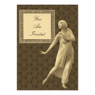 Convites do casamento da mulher da dança de Brown