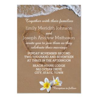 Convites do casamento da onda de oceano do