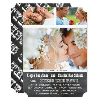 Convites do casamento da tipografia da foto de