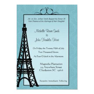 Convites do casamento da torre Eiffel de Paris