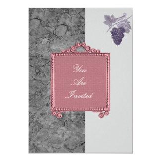 Convites do casamento da uva da moldura para