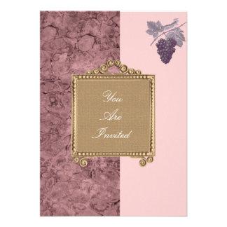 Convites do casamento da uva da moldura para retra