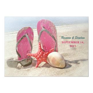 convites do casamento de praia com estrela do mar