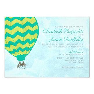 Convites do casamento do balão de ar quente