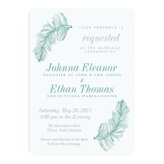 Convites do casamento do Birds of a Feather da