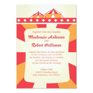 Convites do casamento do circo - vermelho e