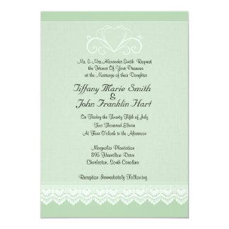 Convites do casamento do coração e do laço