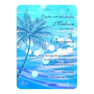 Convites do casamento do destino da praia da