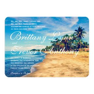 Convites do casamento do destino da praia das